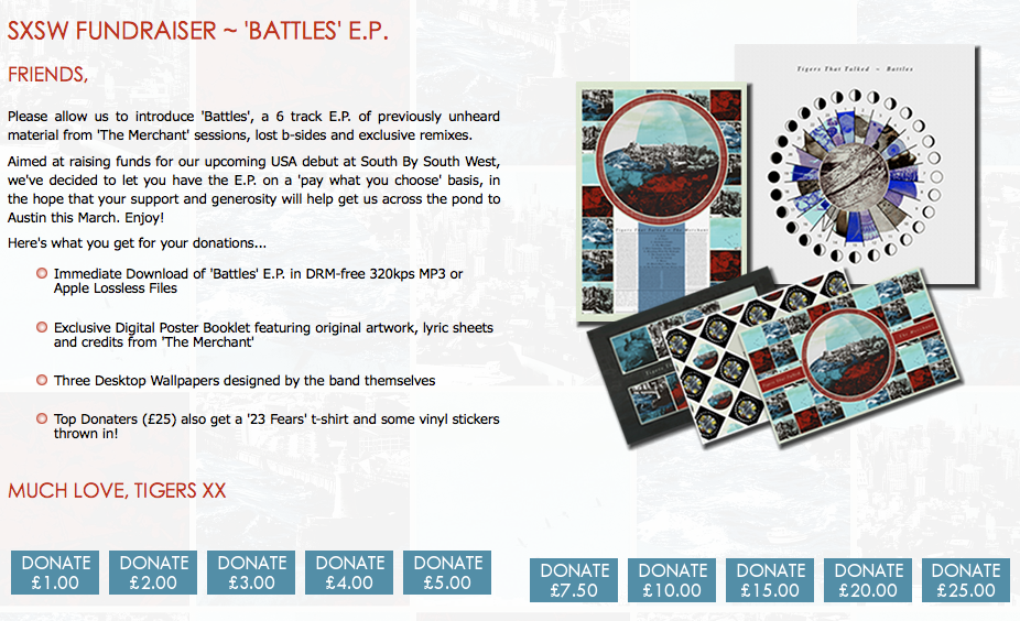 Battles EP Donation Release Strategy